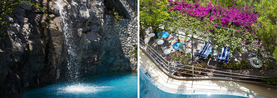 bed and breakfast with pool in positano